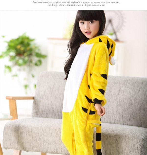 Желтый тигр кигуруми детская пижама