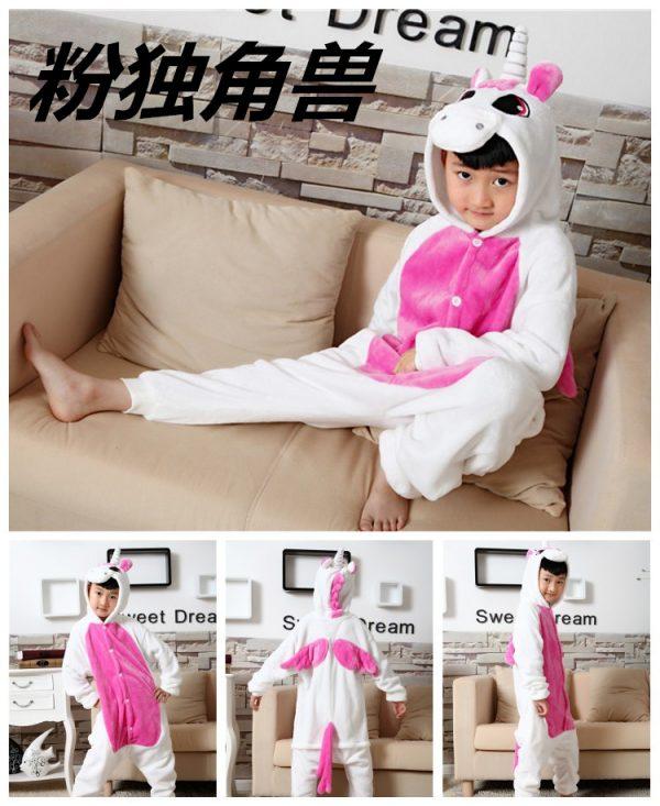 Розовый единорог кигуруми детская пижама