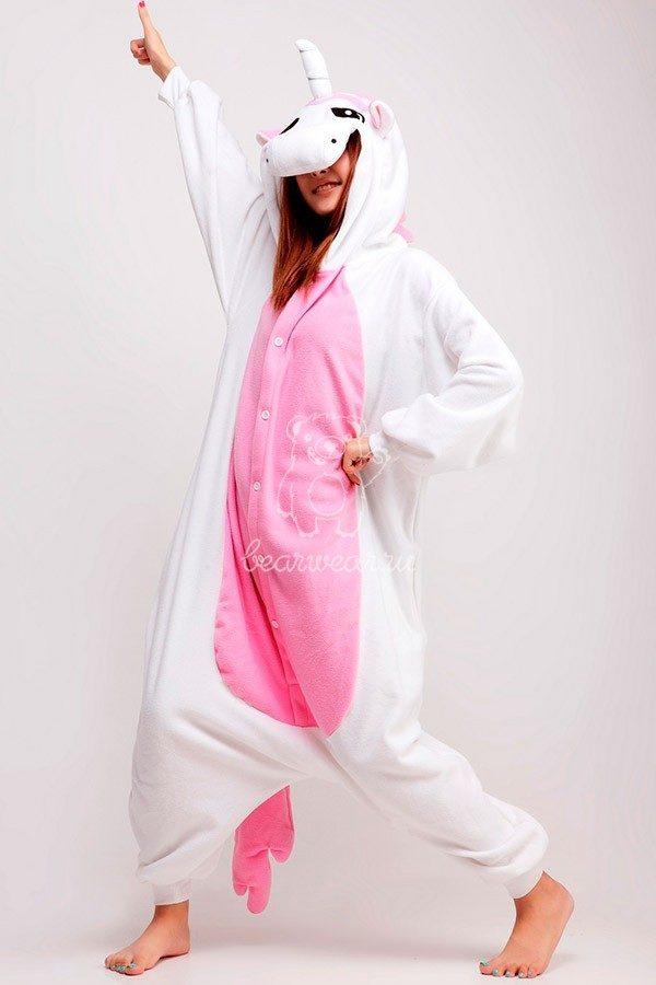 Розовый единорог кигуруми пижама