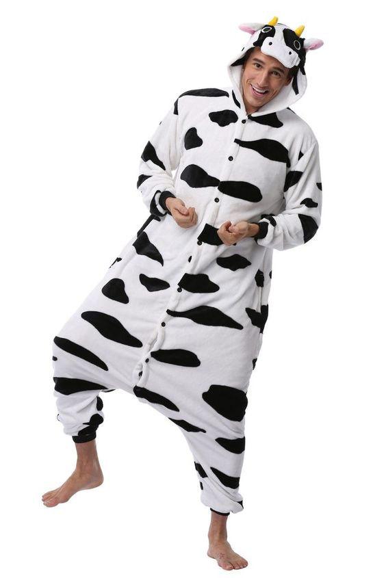 Пижама кигуруми Черная корова в СПБ недорого