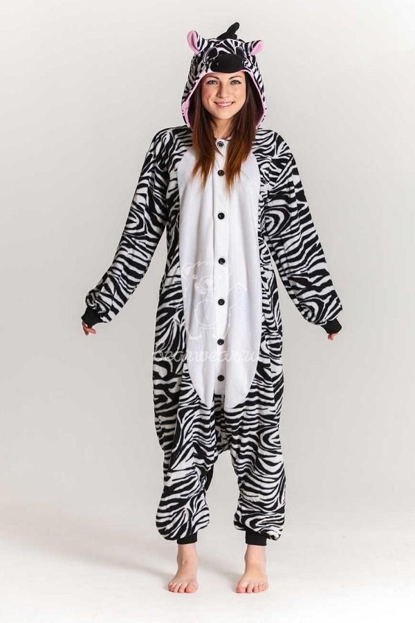 Кигуруми зебра детская пижама