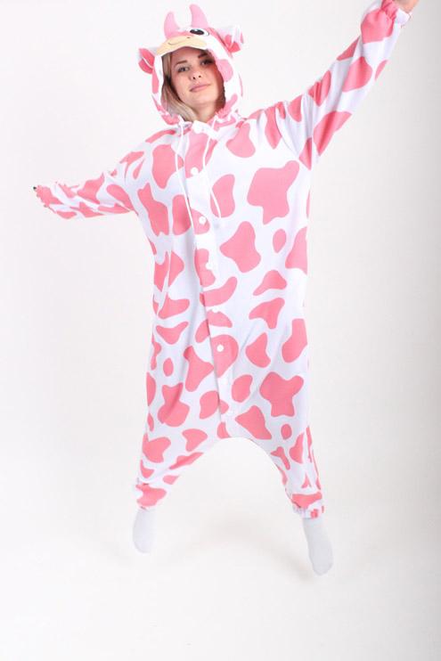 Купить пижаму кигуруми Розовая корова СПБ