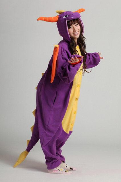 Купить пижаму кигуруми Дракон фиолетовый в СПБ