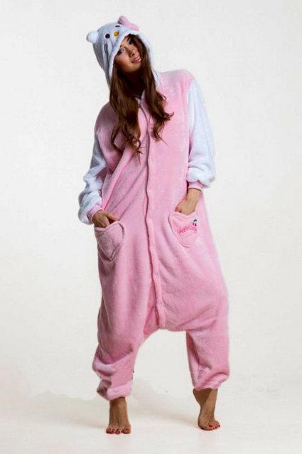 Купить кигуруми Розовый кот в СПБ