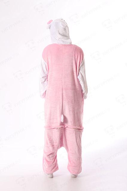 Недорого купить пижаму кигуруми Белый Розовый Кот в СПБ