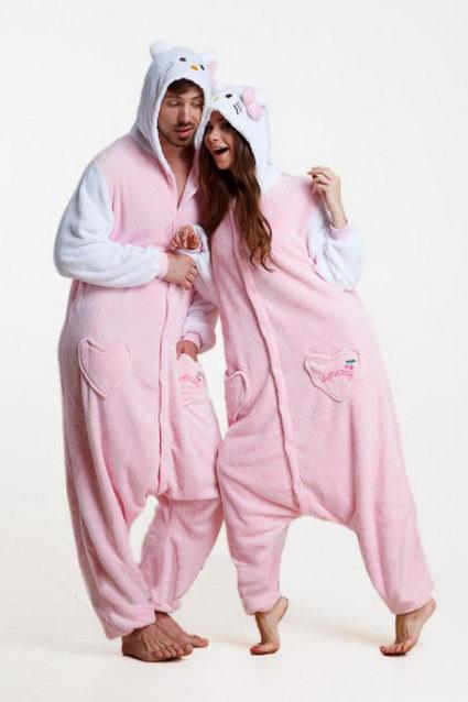 Недорого купить пижаму кигуруми Розовый котенок в СПБ