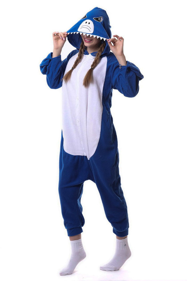 Пижама кигуруми синяя акула купить в СПб