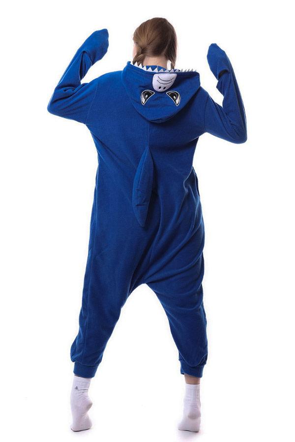 Недорого купить кигуруми в виде голубой акулы в СПб