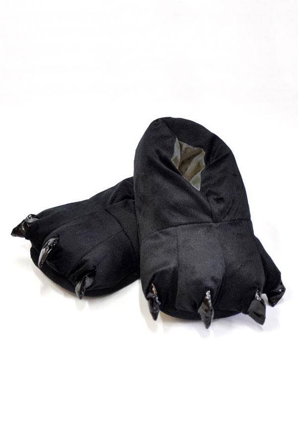 Купить черные тапки лапы животных для кигуруми
