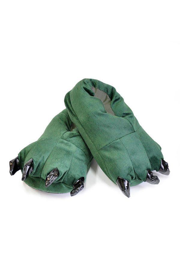 Купить зеленые тапки лапы животных для кигуруми