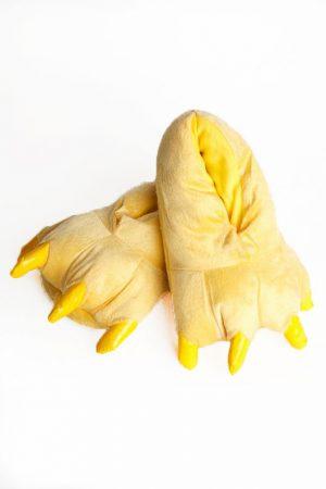 Купить желтые тапки лапы животных для кигуруми