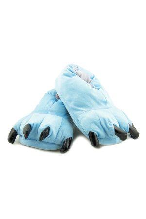 Голубые Тапки-Лапы с Когтями - Купить Тапочки в виде Лап Животных Кигуруми