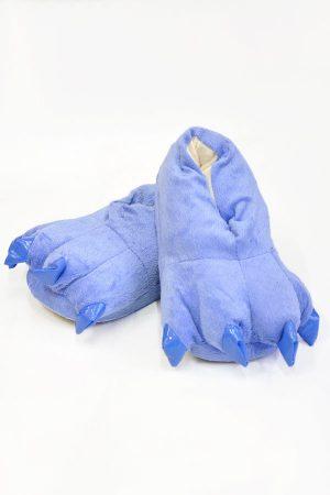 Синие Тапки-Лапы с Когтями - Купить Тапочки в виде Лап Животных Кигуруми