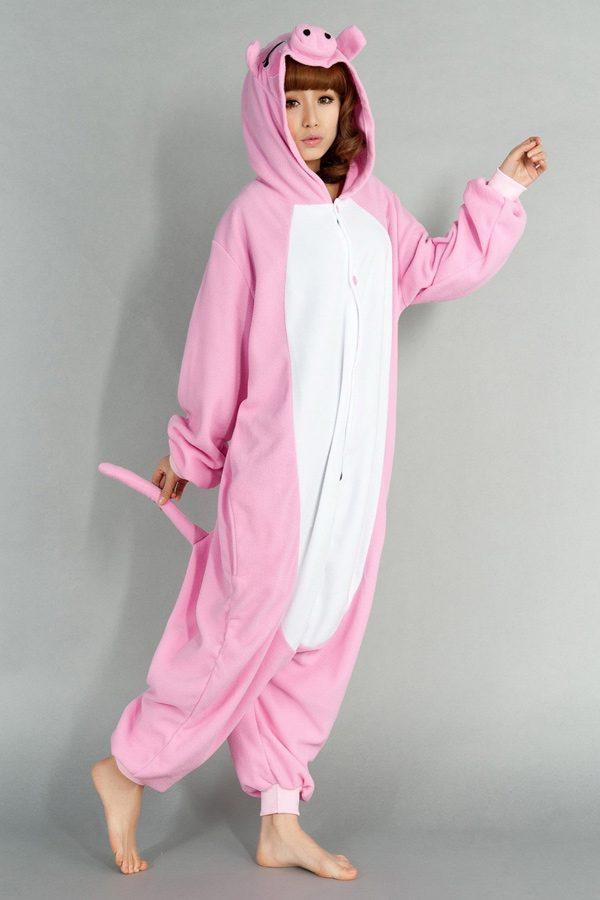 Купить кигуруми розовый поросенок свинка хрюшка