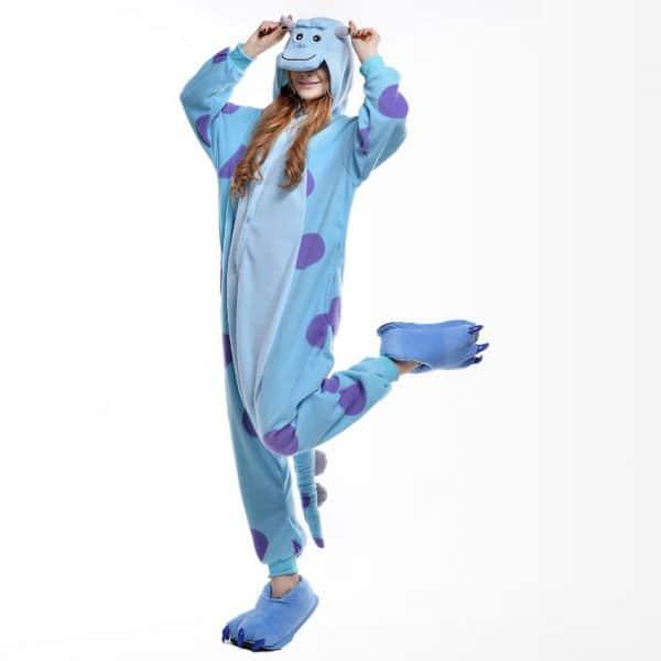 Купить костюм пижама кигуруми для мальчика с хвостом и рогами монстр Салли