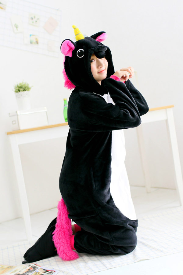 Кигуруми Черный Единорог - Купить пижаму кигуруми в СПб недорого 1e89f60876b91