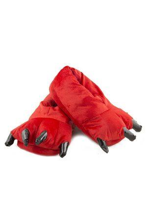 Красные Тапки-Лапы с Когтями - Купить Тапочки в виде Лап Животных Кигуруми