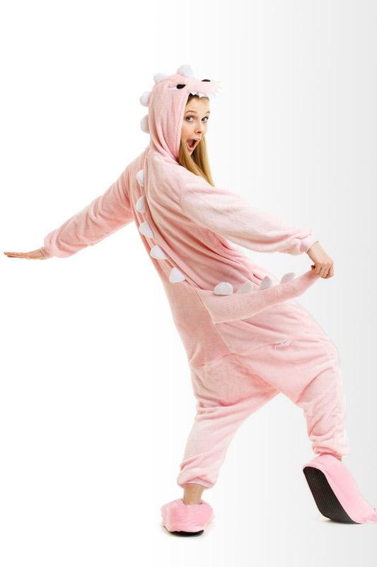 Пижама кигуруми в виде Розового Крокодила или Дракона в СПБ недорого
