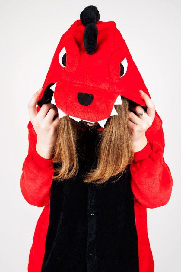 Пижама кигуруми Красный Дракон Крокодил Динозавр купить в СПБ