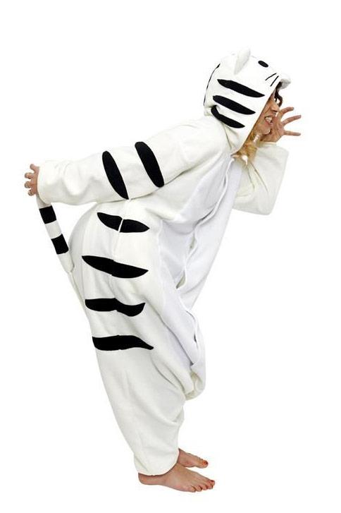Пижама кигуруми Бенгальский Белый тигренок тигр купить в СПБ