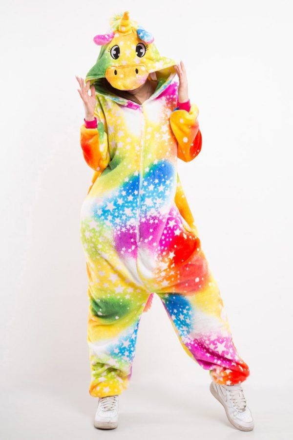 Пижама кигуруми Галактический Космический радужный Единорог в звездочку купить в СПБ