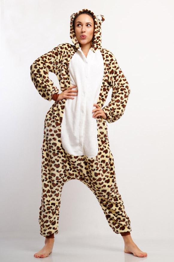Пижама кигуруми в виде Коричневого пятнистого леопарда в СПБ недорого