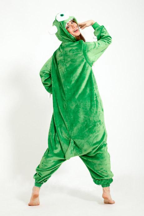 Пижама кигуруми в виде зеленого монстра Майка Вазовского в СПБ недорого
