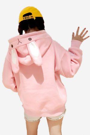 Купить Худи - Свитшот с Капюшоном и Ушками Розовый Кролик в СПб