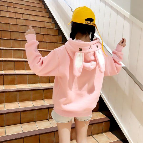 Купить Худи - Свитшот с Капюшоном и Ушками в виде розового кролика