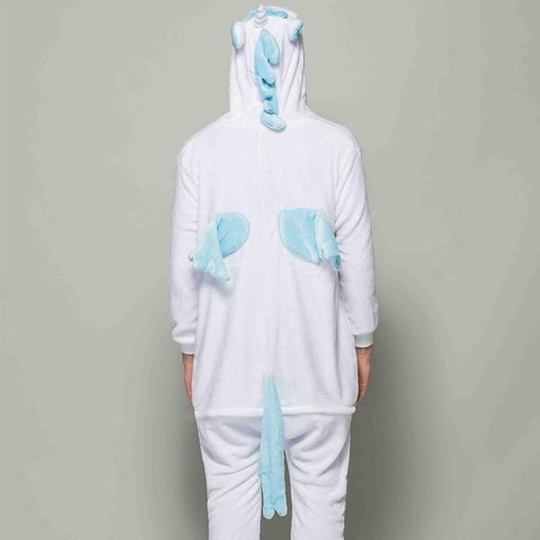 Костюм пижама кигуруми голубой единорог купить в спб недорого