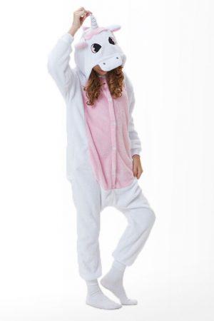 Купить пижаму кигуруми розовый единорог с крыльями в спб