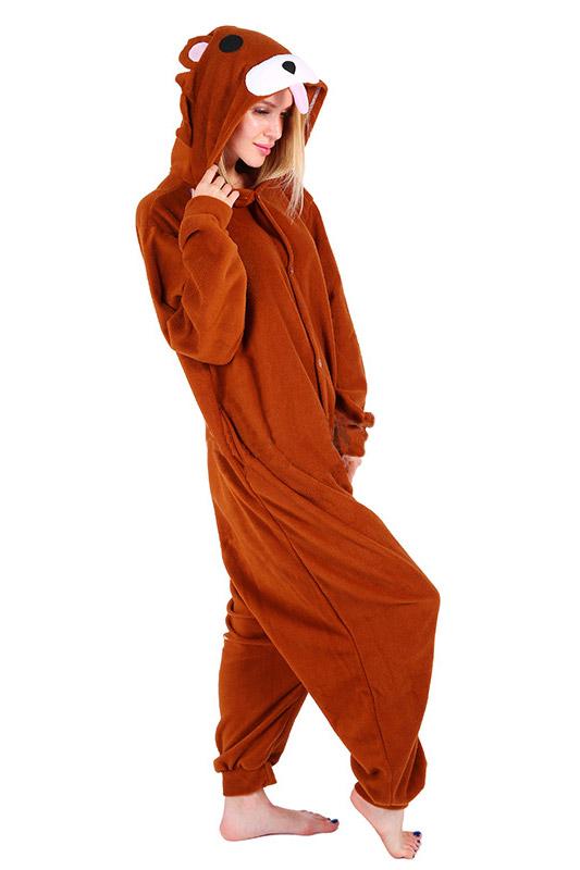 Пижама кигуруми Бурый Коричневый Медведь Педобир Медвежонок купить в СПБ