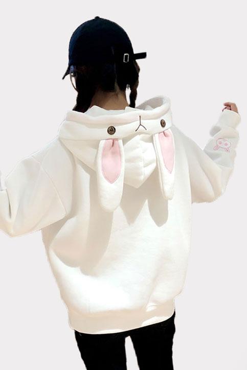 Купить Худи - Свитшот с Капюшоном и Ушками Белый Кролик Заяц в СПб