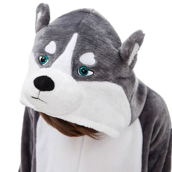 Пижама кигуруми Хаски купить собака костюм в СПБ недорого