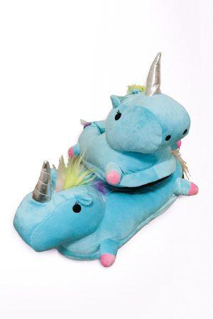 Тапочки Единороги Голубые Кигуруми тапки