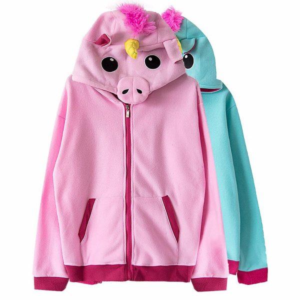 Купить куртку толстовку в виде розового Единорога для девочки девушки