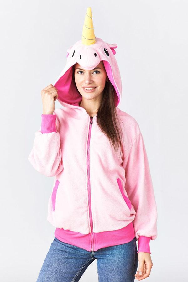 Купить куртка толстовка Розовый Единорог в СПб