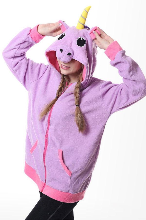 Купить куртка толстовка Фиолетовый Единорог в СПб