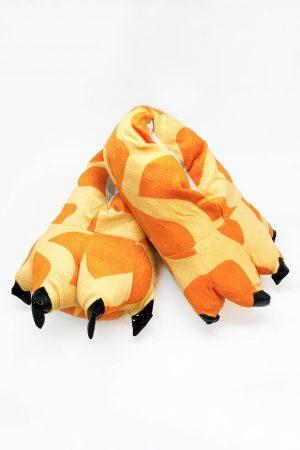 Тапки-Лапы с Когтями Жираф - Купить Тапочки в виде Лап Жирафа Кигуруми