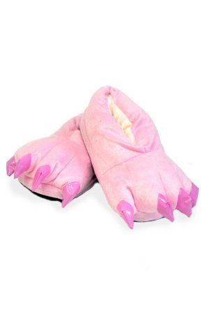Розовые Тапки-Лапы с Когтями - Купить Тапочки в виде Лап Животных Кигуруми