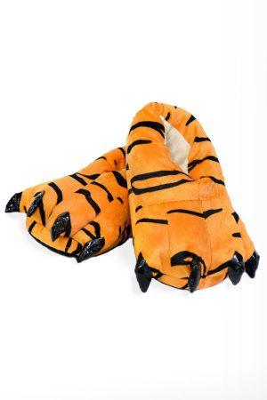Тапки-Лапы с Когтями Тигр - Купить Тапочки в виде Лап Тигра Кигуруми