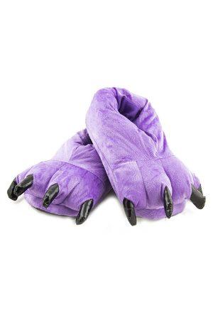 Фиолетовые Тапки-Лапы с Когтями - Купить Тапочки в виде Лап Животных Кигуруми