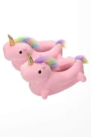 Тапочки Единороги Розовые - Купить Тапки Кигуруми в Виде Единорога