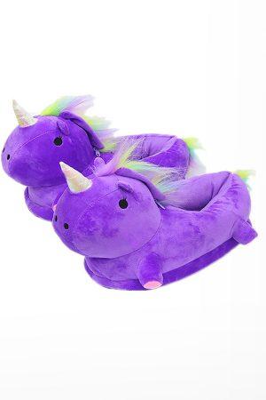 Тапочки Единороги Фиолетовые - Купить Тапки Кигуруми в Виде Единорога детские