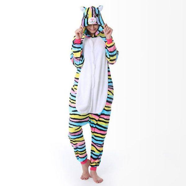 Радужная Кошка / Разноцветный кот - Купить Кигуруми Пижаму в СПБ недорого