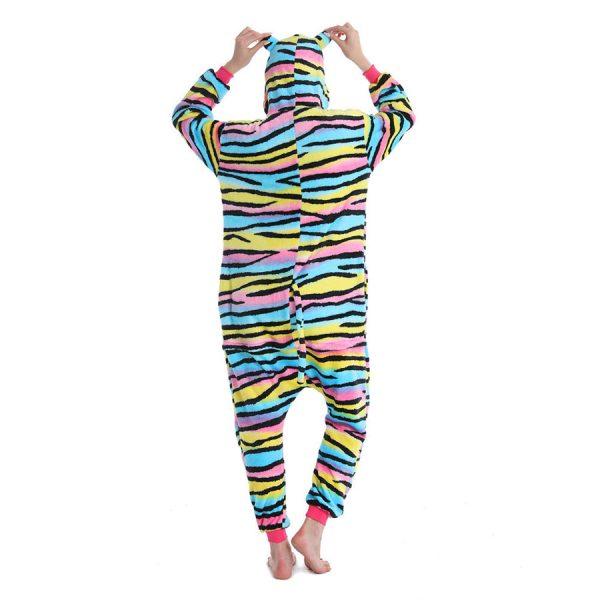 Разноцветный яркий костюм пижама кигуруми Радужный Кот полосатая кошка купить спб