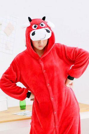 Кигуруми Красный Бык - Купить Пижаму Кигуруми в виде Быка в СПБ недорого