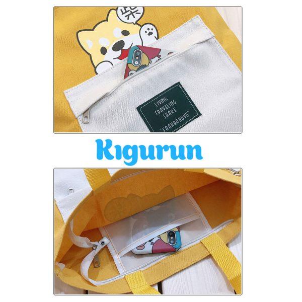 Купить желтый рюкзак сумку KIGURUN в интернет магазине в спб недорого