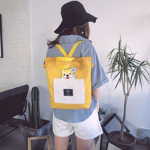 Купить женский рюкзак для девочки желтый недорого в СПБ