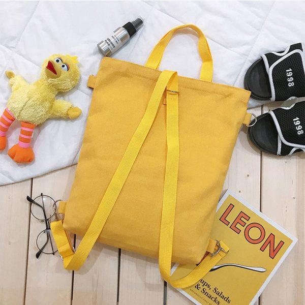 Недорогой женский рюкзак желтого цвета купить в СПБ в магазине